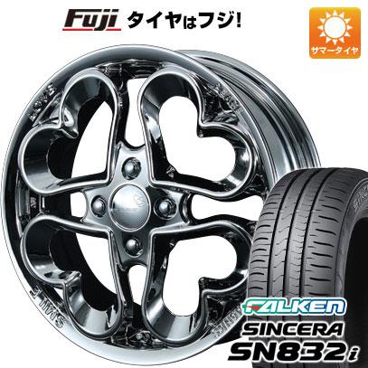 タイヤはフジ 送料無料 PIAA ピア ジュエルハート 4.5J 4.50-14 FALKEN シンセラ SN832i 165/55R14 14インチ サマータイヤ ホイール4本セット