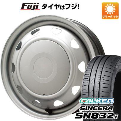タイヤはフジ 送料無料 ELBE エルベ オリジナル スチール 4.5J 4.50-14 FALKEN シンセラ SN832i 165/55R14 14インチ サマータイヤ ホイール4本セット