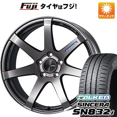 タイヤはフジ 送料無料 ENKEI エンケイ PF07 6J 6.00-15 FALKEN シンセラ SN832i 175/65R15 15インチ サマータイヤ ホイール4本セット