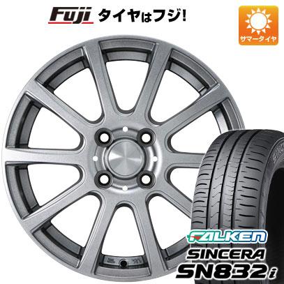 タイヤはフジ 送料無料 ソリオ(MA26S) カジュアルセット タイプB17 メタリックグレー 4.5J 4.50-14 FALKEN シンセラ SN832i 165/70R14 14インチ サマータイヤ ホイール4本セット