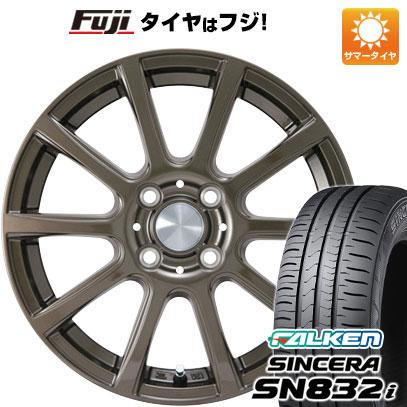 タイヤはフジ 送料無料 カジュアルセット タイプB17 ブロンズ 4.5J 4.50-14 FALKEN シンセラ SN832i 165/65R14 14インチ サマータイヤ ホイール4本セット