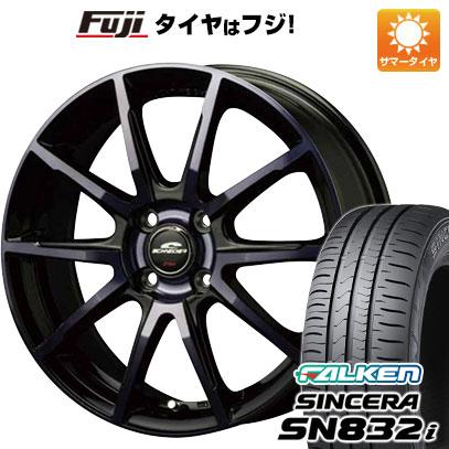 タイヤはフジ 送料無料 MID シュナイダー DR-01 4.5J 4.50-14 FALKEN シンセラ SN832i 165/65R14 14インチ サマータイヤ ホイール4本セット