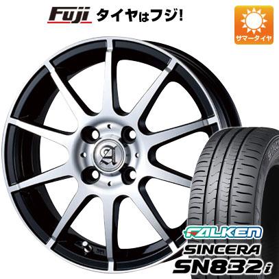 タイヤはフジ 送料無料 TECHNOPIA テクノピア アドニス HSR 4.5J 4.50-15 FALKEN シンセラ SN832i 165/55R15 15インチ サマータイヤ ホイール4本セット