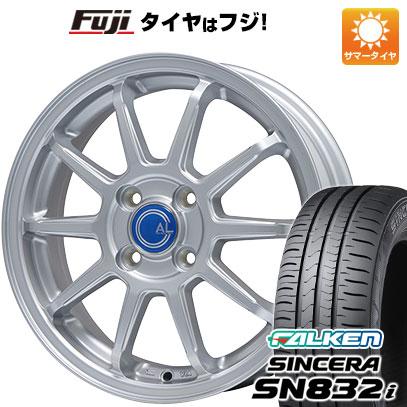 タイヤはフジ 送料無料 BRANDLE ブランドル M60 4.5J 4.50-14 FALKEN シンセラ SN832i 165/65R14 14インチ サマータイヤ ホイール4本セット