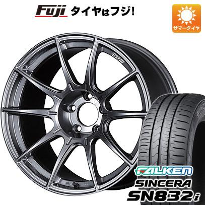 8月 2・5・8日はポイント倍増! タイヤはフジ 送料無料 SSR GTX01 5J 5.00-15 FALKEN シンセラ SN832i 165/55R15 15インチ サマータイヤ ホイール4本セット