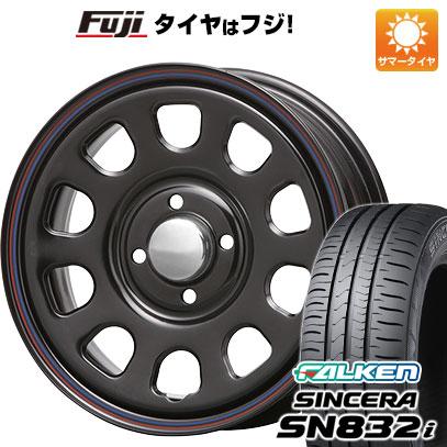 タイヤはフジ 送料無料 MLJ デイトナSS 5J 5.00-14 FALKEN シンセラ SN832i 155/65R14 14インチ サマータイヤ ホイール4本セット