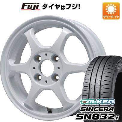 タイヤはフジ 送料無料 LEHRMEISTER リアルスポーツ カリスマVS6 4.5J 4.50-14 FALKEN シンセラ SN832i 165/65R14 14インチ サマータイヤ ホイール4本セット