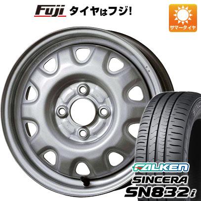 タイヤはフジ 送料無料 ELBE エルベ オリジナル スチール M73 4.5J 4.50-14 FALKEN シンセラ SN832i 165/55R14 14インチ サマータイヤ ホイール4本セット