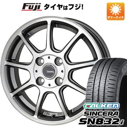 タイヤはフジ 送料無料 HOT STUFF ホットスタッフ ジースピード P-01 4.5J 4.50-14 FALKEN シンセラ SN832i 165/65R14 14インチ サマータイヤ ホイール4本セット