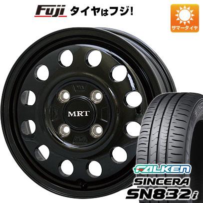 タイヤはフジ 送料無料 MORITA モリタ MRT V01 4J 4.00-13 FALKEN シンセラ SN832i 155/70R13 13インチ サマータイヤ ホイール4本セット