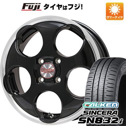 タイヤはフジ 送料無料 PREMIX プレミックス マル(ブラック/リムポリッシュ) 4.5J 4.50-14 FALKEN シンセラ SN832i 165/65R14 14インチ サマータイヤ ホイール4本セット