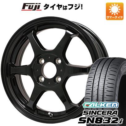 タイヤはフジ 送料無料 LEHRMEISTER リアルスポーツ カリスマVS6 5J 5.00-14 FALKEN シンセラ SN832i 165/65R14 14インチ サマータイヤ ホイール4本セット