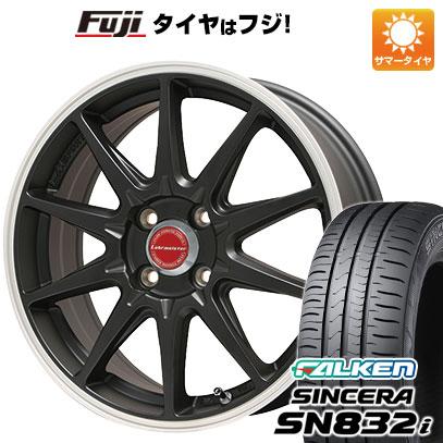タイヤはフジ 送料無料 LEHRMEISTER レアマイスター LMスポーツRS10(マットブラックリムポリッシュ) 4.5J 4.50-14 FALKEN シンセラ SN832i 165/65R14 14インチ サマータイヤ ホイール4本セット