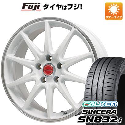 タイヤはフジ 送料無料 LEHRMEISTER レアマイスター LMスポーツRS10(ホワイト/リムポリッシュ) 7J 7.00-16 FALKEN シンセラ SN832i 205/55R16 16インチ サマータイヤ ホイール4本セット