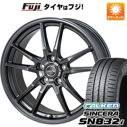 タイヤはフジ 送料無料 MONZA モンツァ ZACK JP-520 6.5J 6.50-16 FALKEN シンセラ SN832i 205/55R16 16インチ サマータイヤ ホイール4本セット
