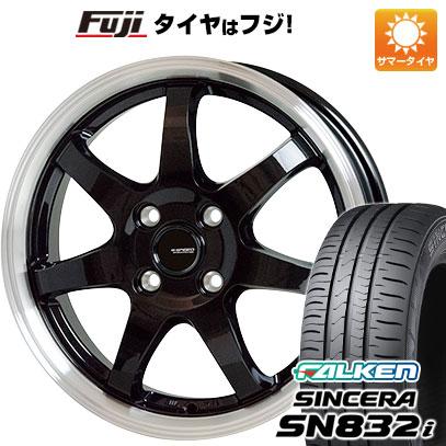 タイヤはフジ 送料無料 HOT STUFF ホットスタッフ ジースピード P-03 4.5J 4.50-14 FALKEN シンセラ SN832i 155/65R14 14インチ サマータイヤ ホイール4本セット