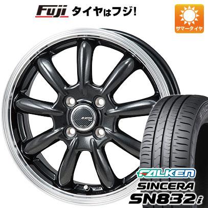 タイヤはフジ 送料無料 MONZA モンツァ JPスタイル バーニー 4J 4.00-13 FALKEN シンセラ SN832i 155/70R13 13インチ サマータイヤ ホイール4本セット