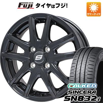 タイヤはフジ 送料無料 BRANDLE ブランドル M61B 4.5J 4.50-15 FALKEN シンセラ SN832i 165/55R15 15インチ サマータイヤ ホイール4本セット