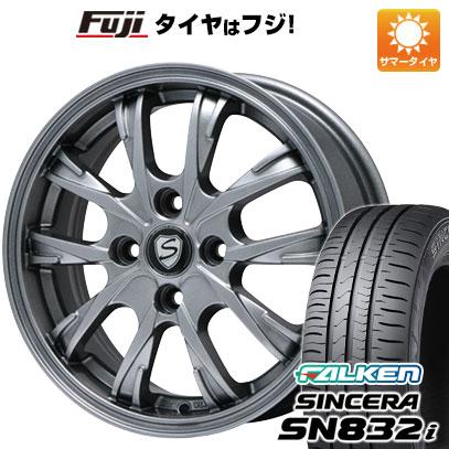タイヤはフジ 送料無料 BRANDLE ブランドル 486 5.5J 5.50-14 FALKEN シンセラ SN832i 175/65R14 14インチ サマータイヤ ホイール4本セット