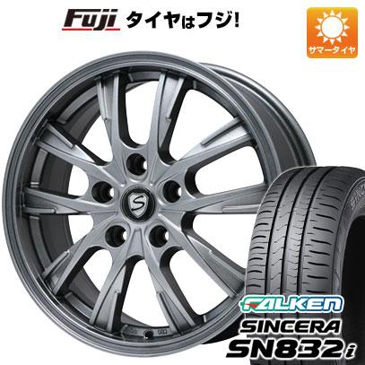 タイヤはフジ 送料無料 BRANDLE ブランドル 486 6J 6.00-15 FALKEN シンセラ SN832i 195/65R15 15インチ サマータイヤ ホイール4本セット