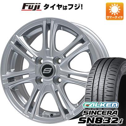 タイヤはフジ 送料無料 BRANDLE ブランドル M68 5.5J 5.50-14 FALKEN シンセラ SN832i 175/70R14 14インチ サマータイヤ ホイール4本セット