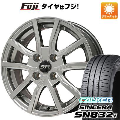 タイヤはフジ 送料無料 BRANDLE ブランドル N52 4.5J 4.50-14 FALKEN シンセラ SN832i 165/55R14 14インチ サマータイヤ ホイール4本セット
