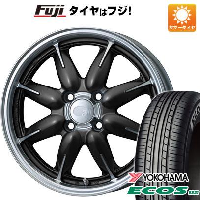 タイヤはフジ 送料無料 ENKEI エンケイ allシリーズ オールワン 6J 6.00-15 YOKOHAMA エコス ES31 185/60R15 15インチ サマータイヤ ホイール4本セット