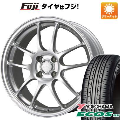タイヤはフジ 送料無料 ENKEI エンケイ PF01 5J 5.00-15 YOKOHAMA エコス ES31 165/55R15 15インチ サマータイヤ ホイール4本セット