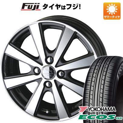 タイヤはフジ 送料無料 KYOHO 共豊 スマック VI-R 4.5J 4.50-14 YOKOHAMA エコス ES31 165/55R14 14インチ サマータイヤ ホイール4本セット