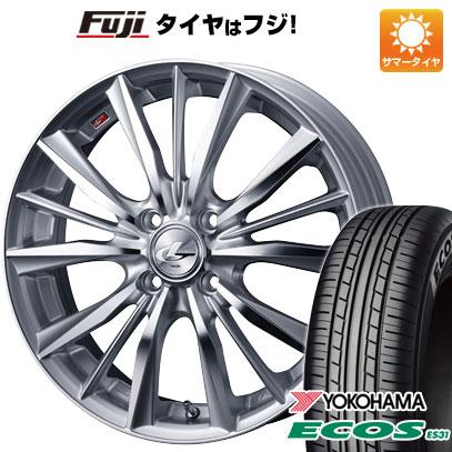 タイヤはフジ 送料無料 WEDS ウェッズ レオニス VX 6J 6.00-16 YOKOHAMA エコス ES31 195/55R16 16インチ サマータイヤ ホイール4本セット