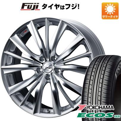 タイヤはフジ 送料無料 WEDS ウェッズ レオニス VX 7J 7.00-17 YOKOHAMA エコス ES31 215/55R17 17インチ サマータイヤ ホイール4本セット