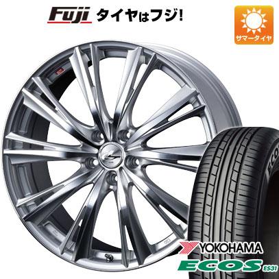 7/25はエントリーでポイント15倍 タイヤはフジ 送料無料 WEDS ウェッズ レオニス WX 6.5J 6.50-16 YOKOHAMA エコス ES31 195/60R16 16インチ サマータイヤ ホイール4本セット