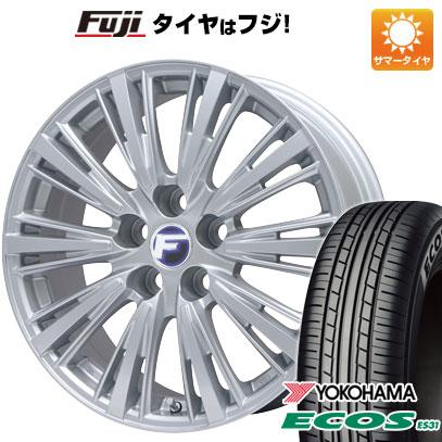 タイヤはフジ 送料無料 LEHRMEISTER レアマイスター L-Fスポーツ(シルバー) 7J 7.00-17 YOKOHAMA エコス ES31 215/45R17 17インチ サマータイヤ ホイール4本セット