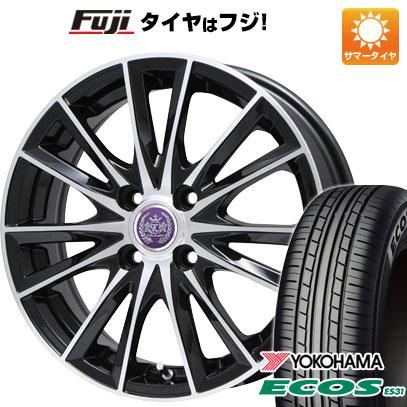 タイヤはフジ 送料無料 LEHRMEISTER レアマイスター ソライアV7 4.5J 4.50-14 YOKOHAMA エコス ES31 165/55R14 14インチ サマータイヤ ホイール4本セット