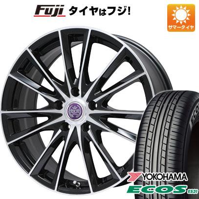 タイヤはフジ 送料無料 LEHRMEISTER レアマイスター ソライアV7 7J 7.00-17 YOKOHAMA エコス ES31 215/45R17 17インチ サマータイヤ ホイール4本セット