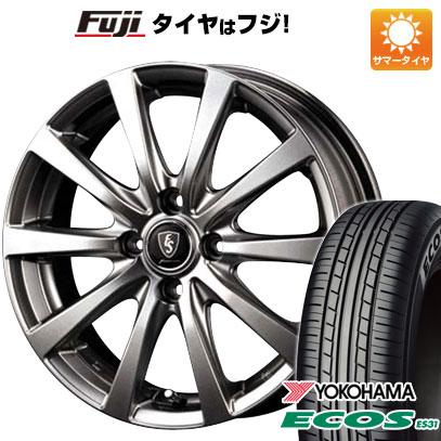 タイヤはフジ 送料無料 ソリオ(MA36S) MID ユーロスピード G10 4.5J 4.50-15 YOKOHAMA エコス ES31 165/65R15 15インチ サマータイヤ ホイール4本セット