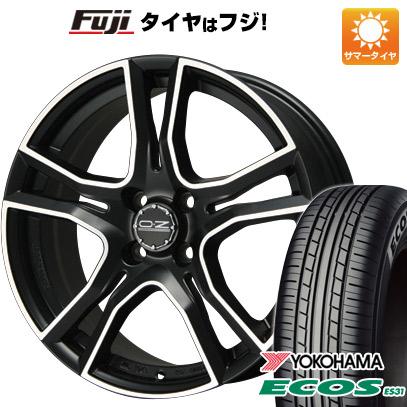 タイヤはフジ 送料無料 OZ X-LINE アドレナリーナ 6J 6.00-15 YOKOHAMA エコス ES31 175/65R15 15インチ サマータイヤ ホイール4本セット