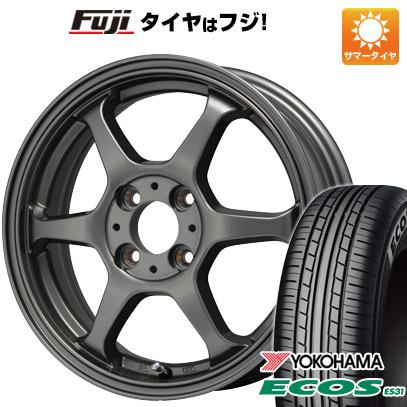 タイヤはフジ 送料無料 LEHRMEISTER リアルスポーツ カリスマVS6 4.5J 4.50-14 YOKOHAMA エコス ES31 165/65R14 14インチ サマータイヤ ホイール4本セット