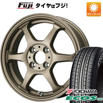 タイヤはフジ 送料無料 LEHRMEISTER リアルスポーツ カリスマVS6 4.5J 4.50-14 YOKOHAMA エコス ES31 165/55R14 14インチ サマータイヤ ホイール4本セット