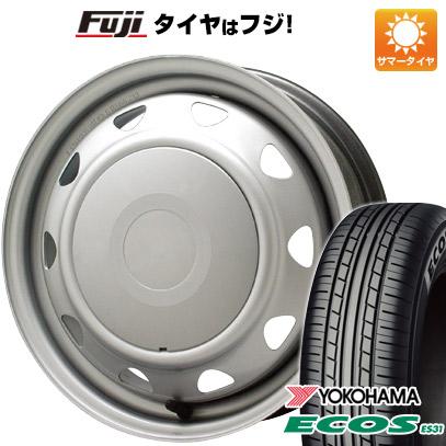 タイヤはフジ 送料無料 ELBE エルベ オリジナル スチール 4.5J 4.50-14 YOKOHAMA エコス ES31 165/55R14 14インチ サマータイヤ ホイール4本セット