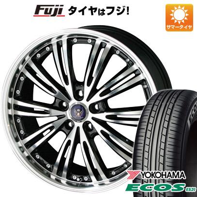 タイヤはフジ 送料無料 KYOHO 共豊 シュタイナー WX5 7J 7.00-17 YOKOHAMA エコス ES31 215/55R17 17インチ サマータイヤ ホイール4本セット