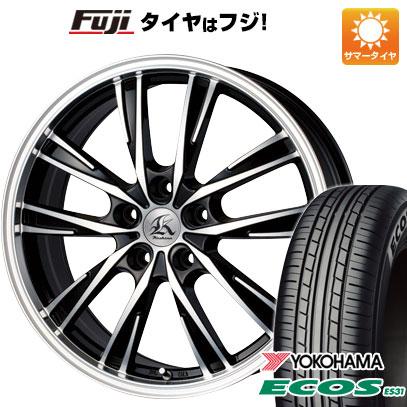 タイヤはフジ 送料無料 TECHNOPIA テクノピア カシーナ XV-5 7J 7.00-17 YOKOHAMA エコス ES31 215/55R17 17インチ サマータイヤ ホイール4本セット