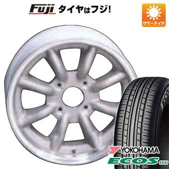 タイヤはフジ 送料無料 ソリオ(MA36S) WATANABE ワタナベ エイトスポーク 5.5J 5.50-15 YOKOHAMA エコス ES31 165/65R15 15インチ サマータイヤ ホイール4本セット