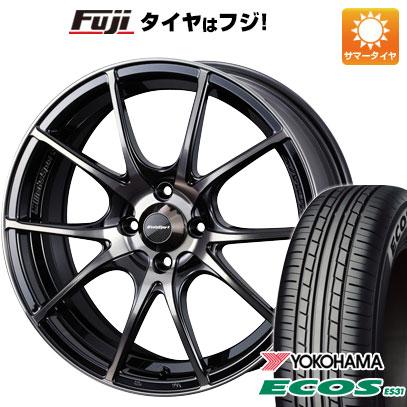 タイヤはフジ 送料無料 WEDS ウェッズスポーツ SA-10R 6J 6.00-15 YOKOHAMA エコス ES31 185/65R15 15インチ サマータイヤ ホイール4本セット