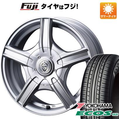 タイヤはフジ 送料無料 WEDS ウェッズ トレファー MH 6.5J 6.50-16 YOKOHAMA エコス ES31 205/55R16 16インチ サマータイヤ ホイール4本セット