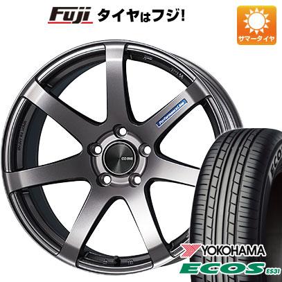 タイヤはフジ 送料無料 ENKEI エンケイ PF07 5J 5.00-15 YOKOHAMA エコス ES31 165/55R15 15インチ サマータイヤ ホイール4本セット