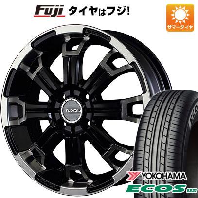 タイヤはフジ 送料無料 RAYS レイズ デイトナ KCX 5.5J 5.50-16 YOKOHAMA エコス ES31 175/60R16 16インチ サマータイヤ ホイール4本セット