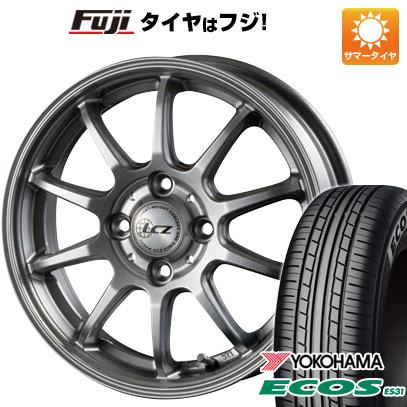 タイヤはフジ 送料無料 INTER MILANO インターミラノ LCZ 010 4.5J 4.50-14 YOKOHAMA エコス ES31 165/65R14 14インチ サマータイヤ ホイール4本セット