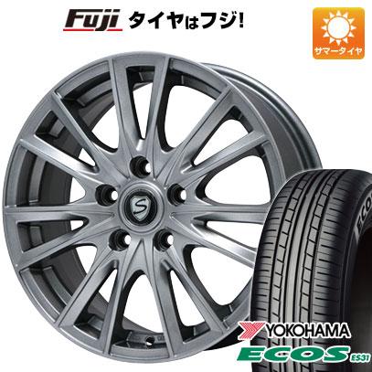 タイヤはフジ 送料無料 BRANDLE ブランドル 485 7J 7.00-17 YOKOHAMA エコス ES31 215/55R17 17インチ サマータイヤ ホイール4本セット