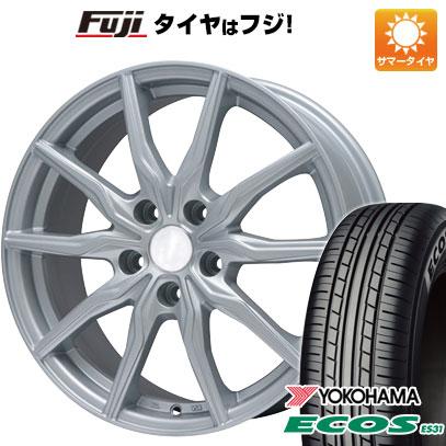 タイヤはフジ 送料無料 BRANDLE ブランドル 008 7.5J 7.50-18 YOKOHAMA エコス ES31 225/45R18 18インチ サマータイヤ ホイール4本セット